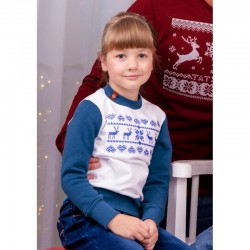 "Sweat enfant bleu ""Noel"""