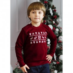 "Sweat enfant rouge ""Noel"""