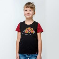 T-shirt noir brodé «...