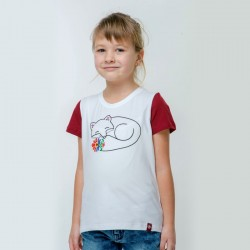 T-shirt blanc brodé «...