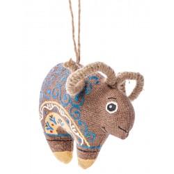 Mouton avec motif bleu
