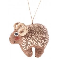 Mouton avec motif doré