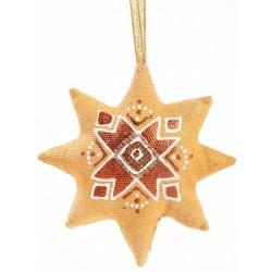 Étoile dorée de Noël