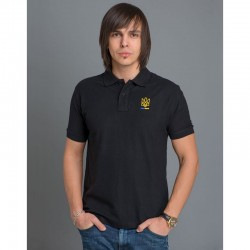 "Polo homme ""Trident"" noir"