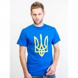 Чоловіча синя футболка...